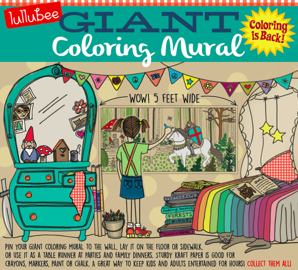 Giant Coloring Murals by Lullubee | Momma\'s Bacon