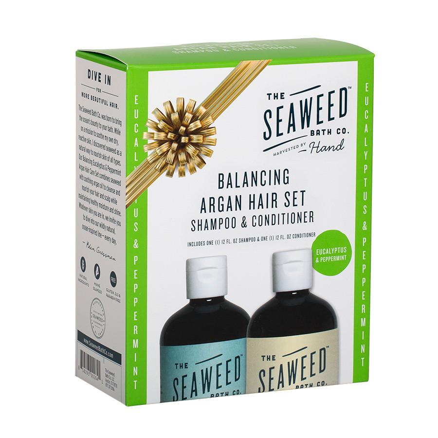 Balancing Argan Hair Set Eucalyptus Peppermint By The Seaweed Bath Co Local Austin Texas Momma S Bacon