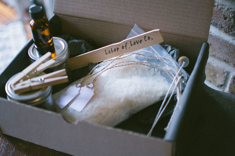 DIY Soy Candle Kit by Labor of Love Co  | Momma's Bacon