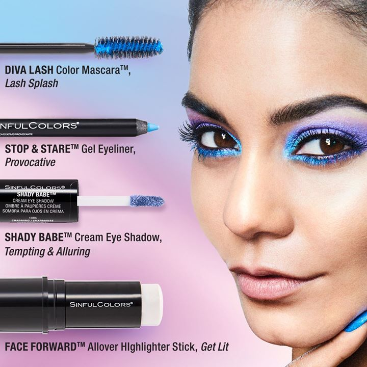 443c7fe9ffb Vanessa chose the Diva Lash Color Mascara in Lash Splash for her bundle and  bright blue color really pops on your lashes.