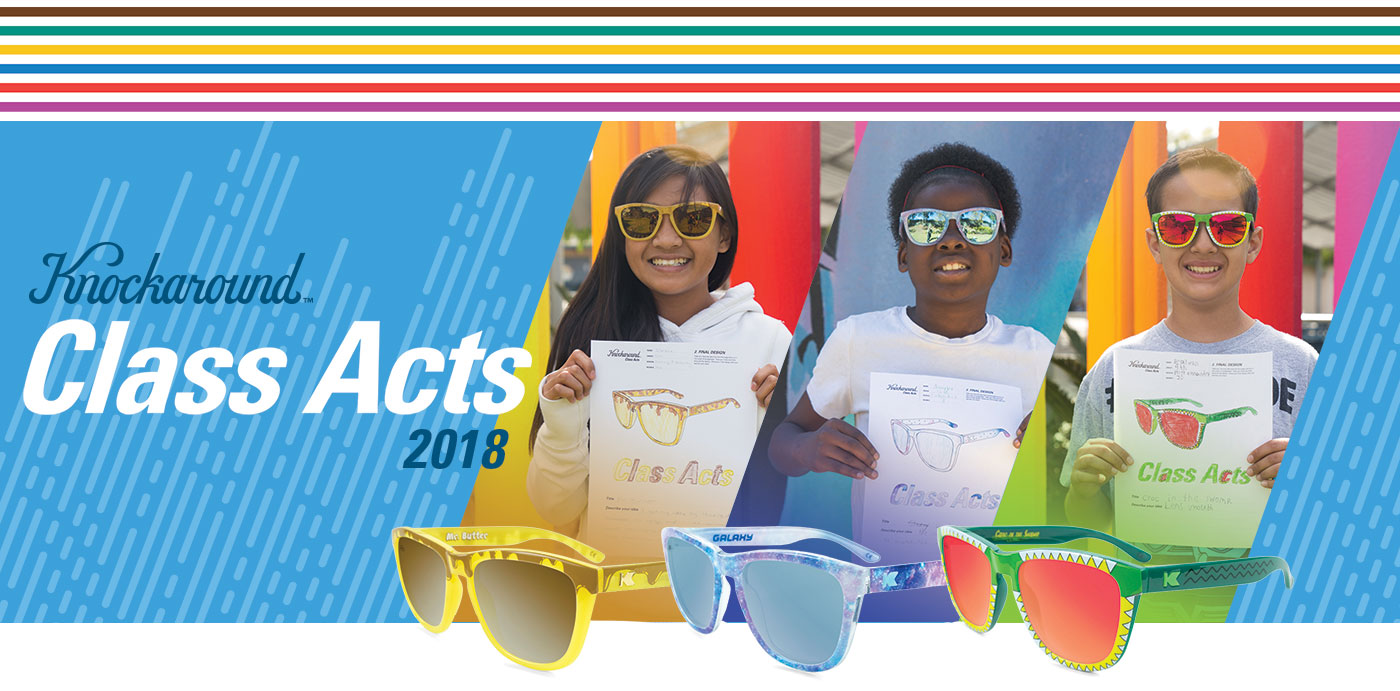 691e0f62542be Knockaround Releases Sunglasses Designed by Elementary Students To Fund Art  Education